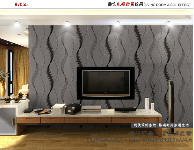 Europe Style Black Wave Pattern GlamorousModern Background Wallpaper Roll Dining Room Living Hall In Wallpapers From Home Improvement On