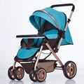 MoonSater 2305 Gaojingguan bidireccional Puede Sentarse Puede Mentir Bebé Carro de Jardín Generoso Simple Bebé Bebé de Viaje Necesarios