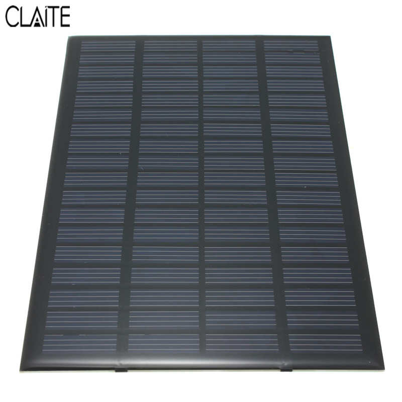 High quality 18V 2.5W Polycrystalline Stored Energy Power Solar Panel Module System Solar Cells Charger 19.4x12x0.3cm