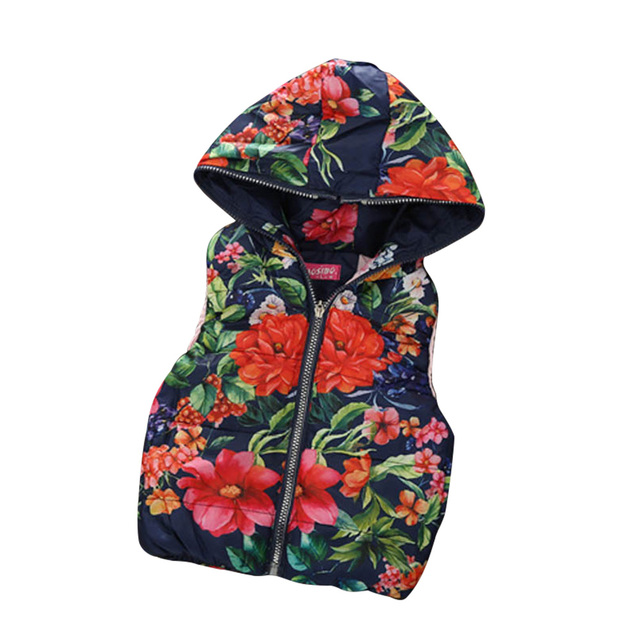 Girl Vest 2017 Fashion Children Waistcoat Hooded Coat Girls Baby Coats Casual Thick Kids Vests Clothes Outerwear Waistcoats