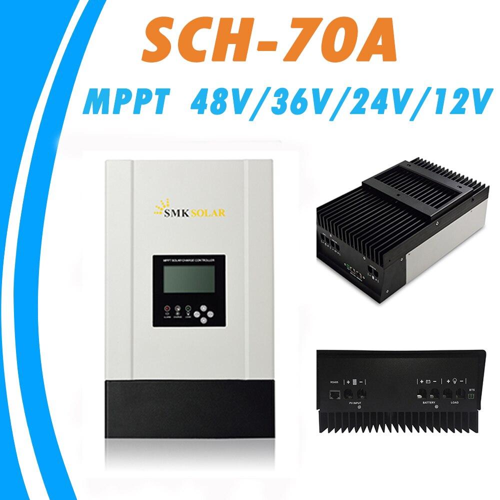 <font><b>MPPT</b></font> 70A Солнечный Панель Зарядное устройство контроллер 12 В 24 В 36 В 48 В авто для max 150 В Вход RS485 Связь радиатор охлаждения регулятор