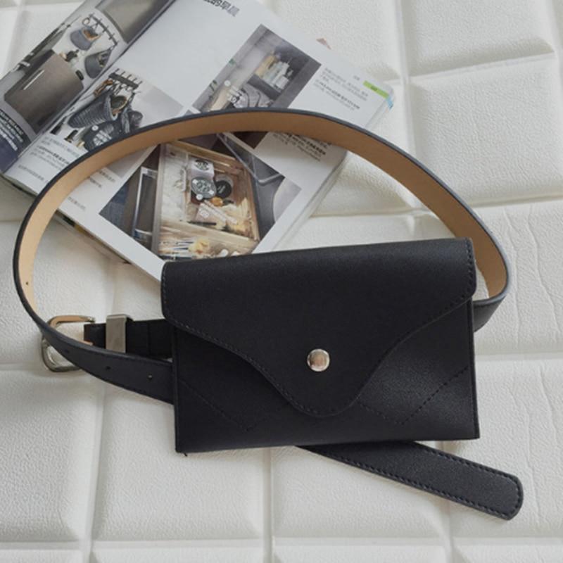 ABDB New Women Waist Bag Multifunction Women Bag Fashion Phone Waist Bags Small Belt Handbag