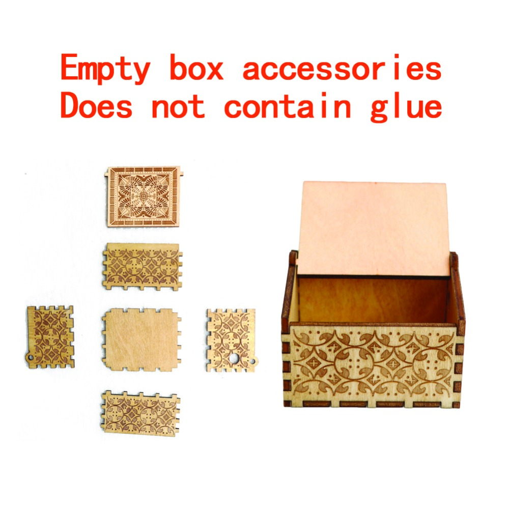 Drop Shipping Wholesale Antique Carved Wooden Empty Music Box Home Decorations Storage Box Ladies Jewelry Box