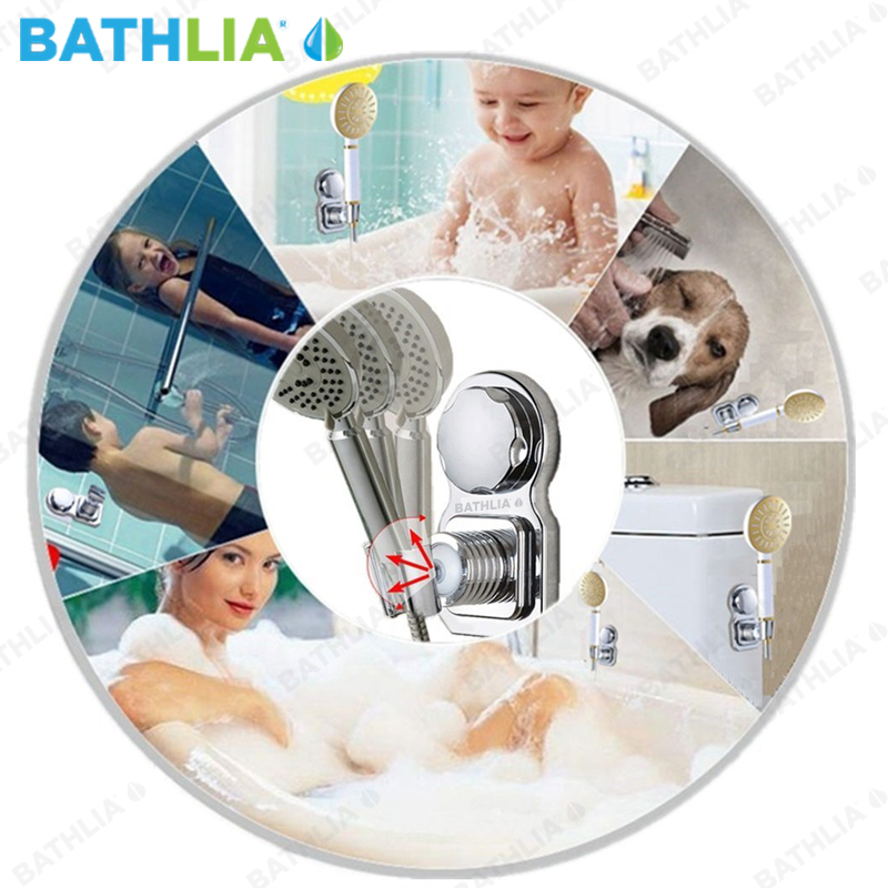 Bathroom Shower Head Holder ABS Plastic Suction Absorb Shower head ...