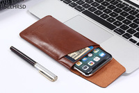 For Umidigi S2 Ultra Thin Bag Super Slim Vintage Microfiber Leather Case Stitch Sleeve Pouch Cover