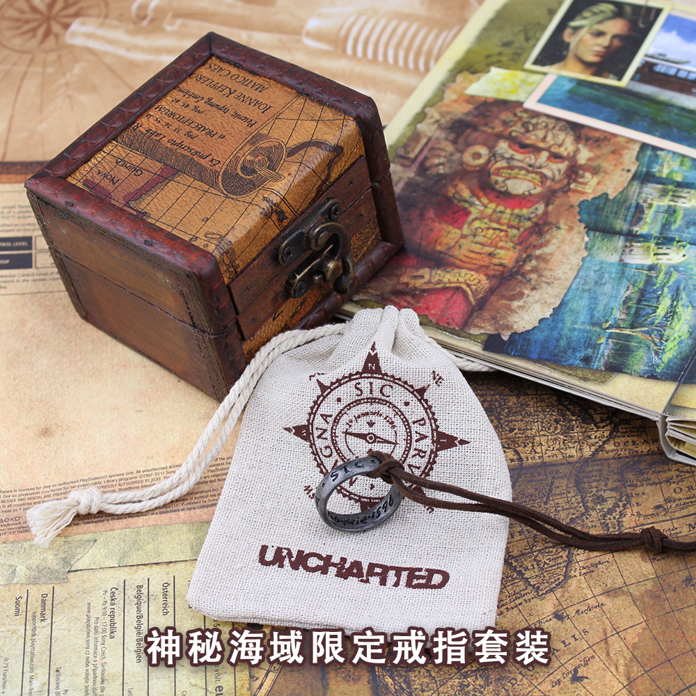 Uncharted 3 Drake's Deception Anime Game Francis Drake Collector's Edition Drake's Ring  Fashion Jewelry Cosplay Necklace sosw fashion anime theme death note cosplay notebook new school large writing journal 20 5cm 14 5cm