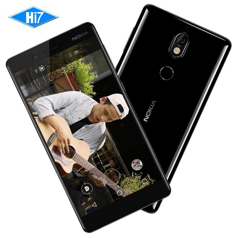 New Original Nokia 7 64g ROM 16MP Caméra Double Sim Cartes 5.2 pouces Octa Core 4g LTE 3000 mah Android 7.1 Smart Mobile Téléphone