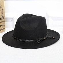 f92b4da63cf87 Homem de lã fedora chapéu-hawkins feltro cap womens inverno chapéu de aba  larga trilby chapeu feminino chapéu mulheres homens ja.