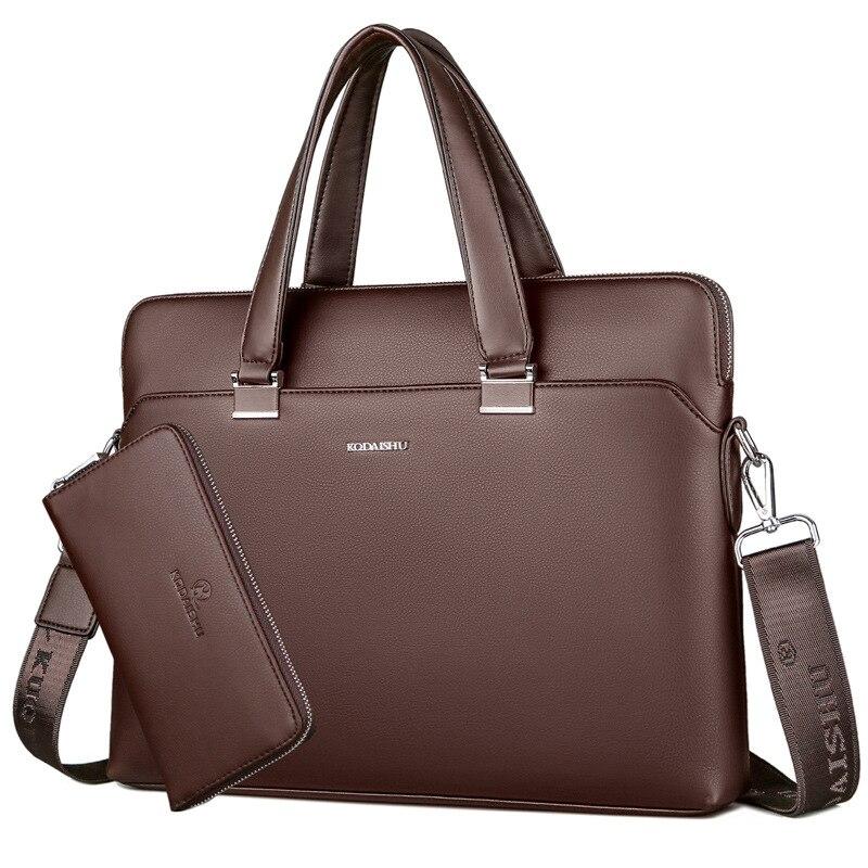 Top Quality Business Men Briefcase Office Laptop Bag Men's Bag for Work Casual Tote Bag Large Messenger Shoulder Bag With Strap