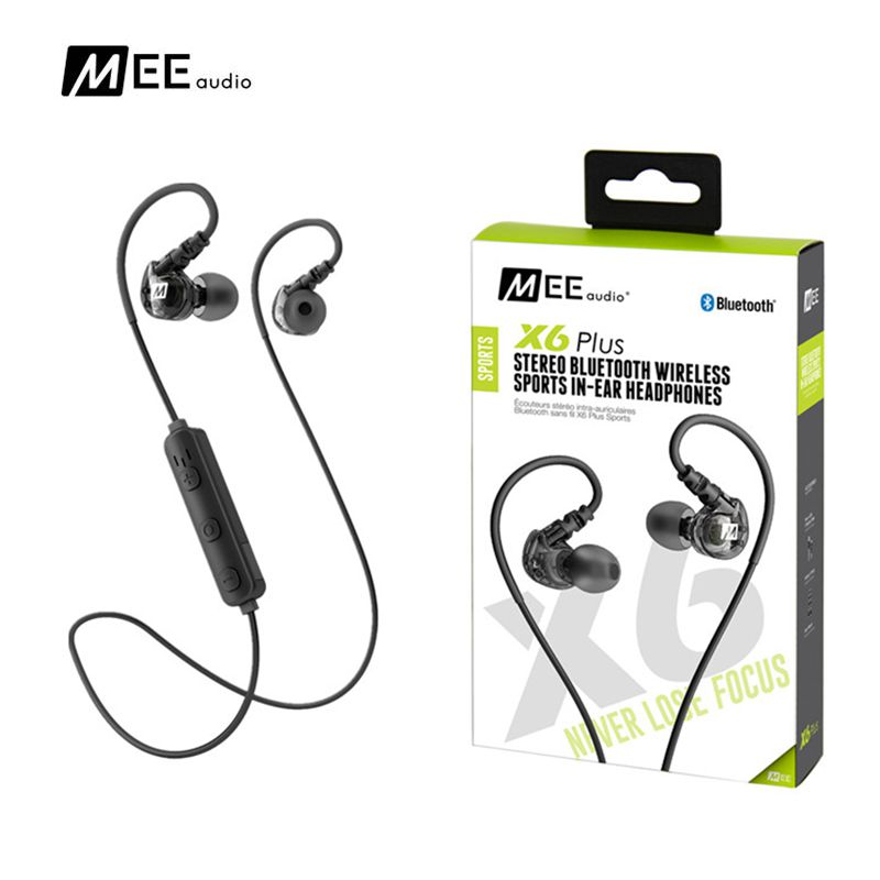 все цены на 100% original MEE AUDIO X6 PLUS STEREO BLUETOOTH WIRELESS SPORTS IN-EAR HEADPHONES earphones black with box pk MEE M6 pro онлайн