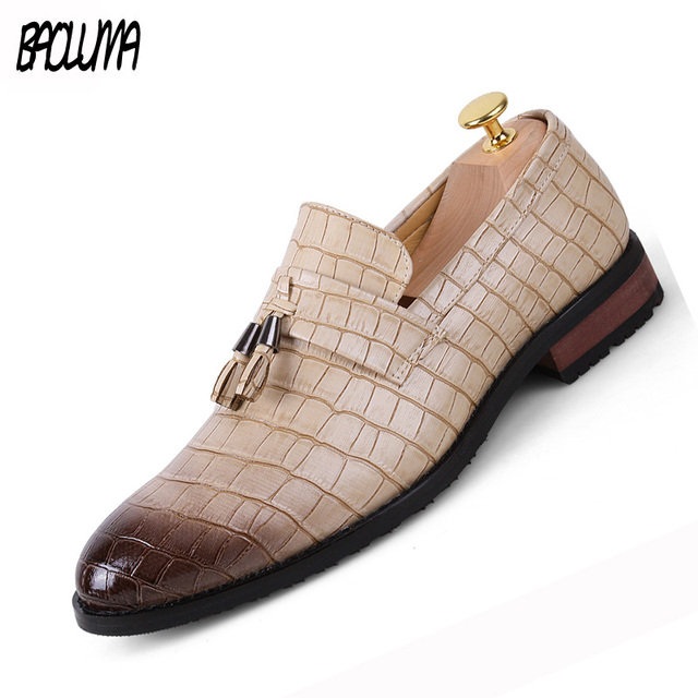 Pointed Toe Formal Shoes Man Pu Leather Oxfords 2018 Spring Men Italy Dress Shoes Business Wedding Shoes For Male Large Sizes