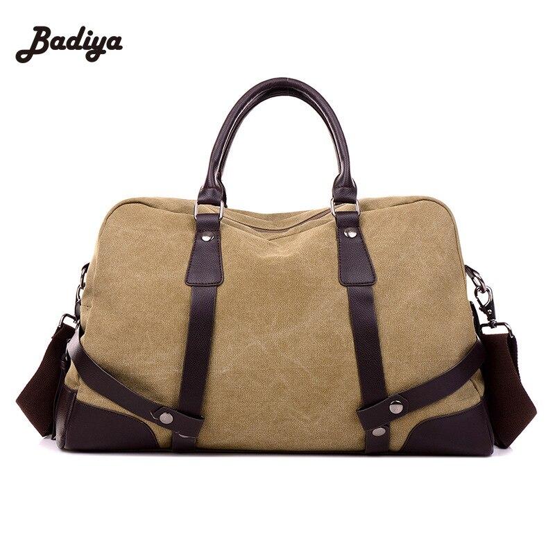 93b5d7e39ed3 Mens Retro Vintage Canvas Laptop Portfolio Leather School Briefcase Simple  Design Travel Crossbody Shoulder Bag Messenger Bags-in Shoulder Bags from  Luggage ...
