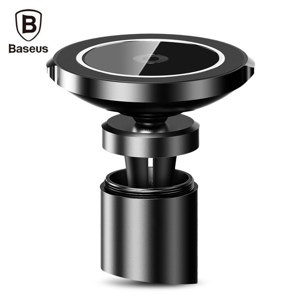 Baseus Car Mount Qi Wireless Charger for iPhone X Samsung Note S