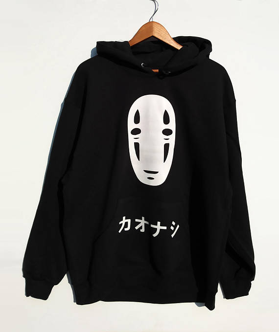 No Face Men Oversized Hoodie Kawaii Spirited Away Hoodie  Anime Hirajuku Unisex Hoody Black Tumblr Casual Tops Hoodie Gift
