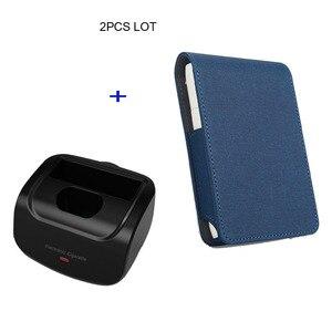 Image 2 - Jinxingchengためiqosマルチ3.0ホルダーボックスレザーケースフリップ財布ポーチバッグと充電器iqosマルチ充電