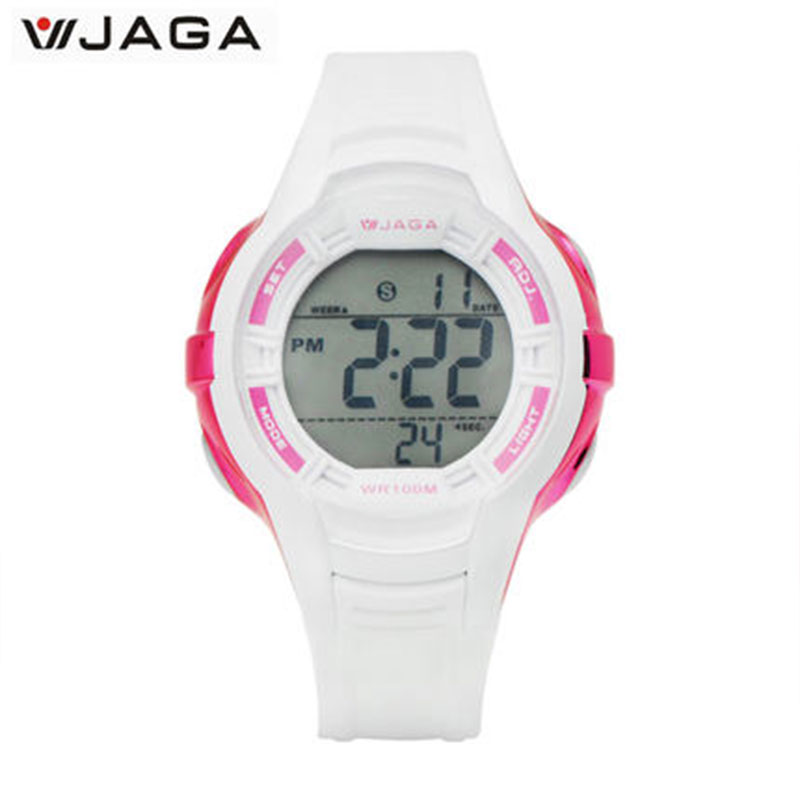 JAGA Relojes Hombre 2018 Sieviešu kustības daudzfunkciju elektroniskais pulkstenis Relogio Feminino ūdensnecaurlaidīgs pulkstenis Sporta pulkstenis M994