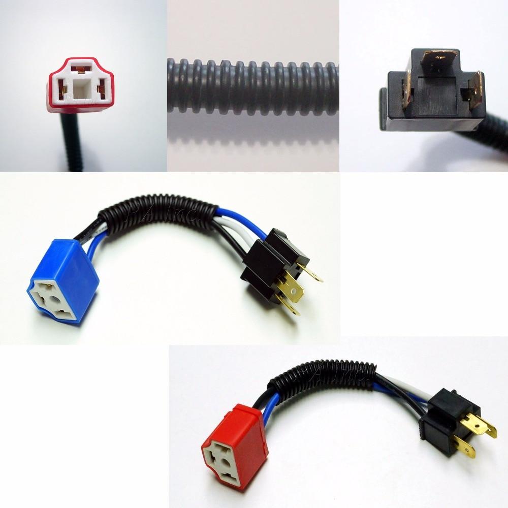 Pa Led 4 X H4 9003 Lamp Ceramic Plug Headlight Harness