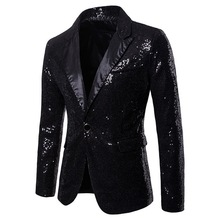 Men Sequin Glitter Blazer RK