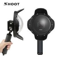 SHOOT Underwater Dome Port for GoPro Hero 7 6 5 Black Waterproof Case Float Grip Go Pro Hero 6 5 7 Accessory