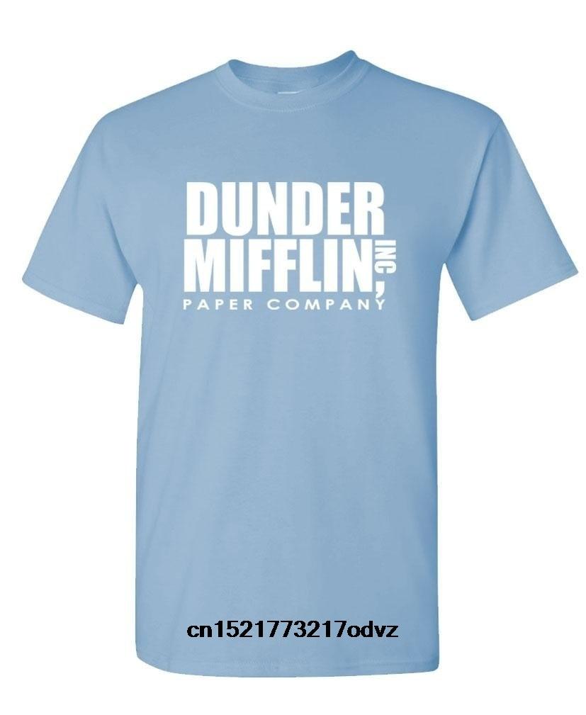 ffce2638fed7 Men T shirt The Office TV Show Dunder Mifflin Paper Royal Blue funny t-shirt  novelty tshirt women