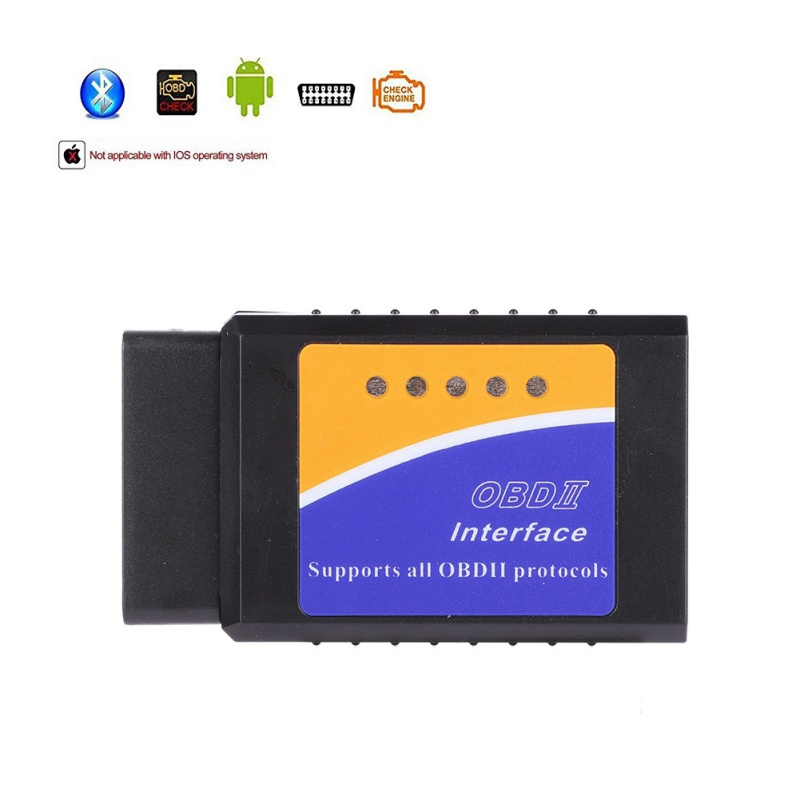 New V1.5 Elm327 <font><b>Bluetooth</b></font> 2.0 Adapter Obd2 <font><b>Elm</b></font> <font><b>327</b></font> Auto Diagnostic Scanner For Android <font><b>Elm</b></font>-<font><b>327</b></font> Obd 2 ii Car Diagnostic Tool image