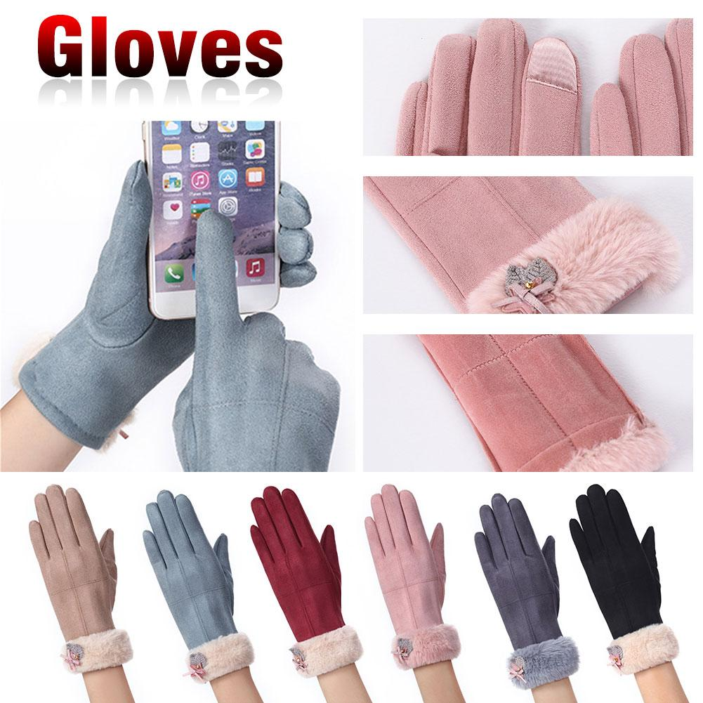 Frank New Winter Female Warm Cashmere Suede Fabric Warm Touch Screen Gloves Women Touch Screen Driving Gloves Back To Search Resultsapparel Accessories
