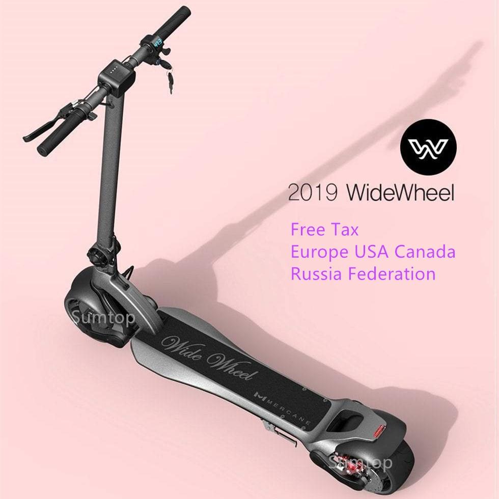 2019 nouveau Scooter électrique intelligent pliable de KickScooter de roue large de Mercane 48 V 500 W 1000 W deux roues simple/double moteur Widewheel