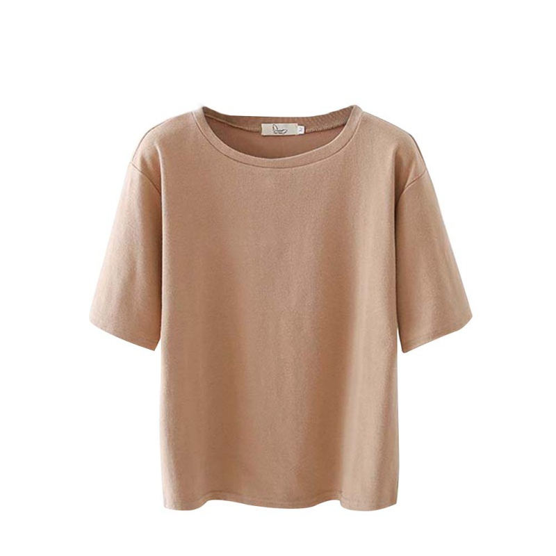 Korean Style Short Sleeve T-shirt Women Fashion Loose Basic T-shirts For Womens