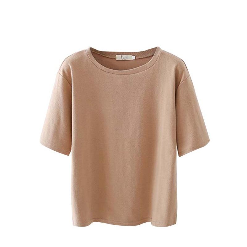 Korean Style Short Sleeve T-shirt Women Fashion Loose Basic T-shirts For Womens