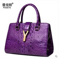 pugete Thai crocodile women handbag 2017 new crocodile leather crocodile single shoulder women bag big bag