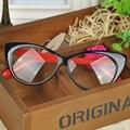 New styling leopardo do olho do vintage óculos de armação mulheres marca olho quadro simples óculos cat eye glasses presente de aniversário do vintage