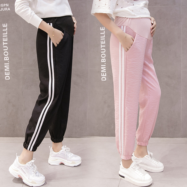 800b8ad75a188 Cotton Maternity Pants Sweatpants Pregnancy Clothes For Pregnant Women  Loose Maternity Clothing Pregnancy Belly Trousers