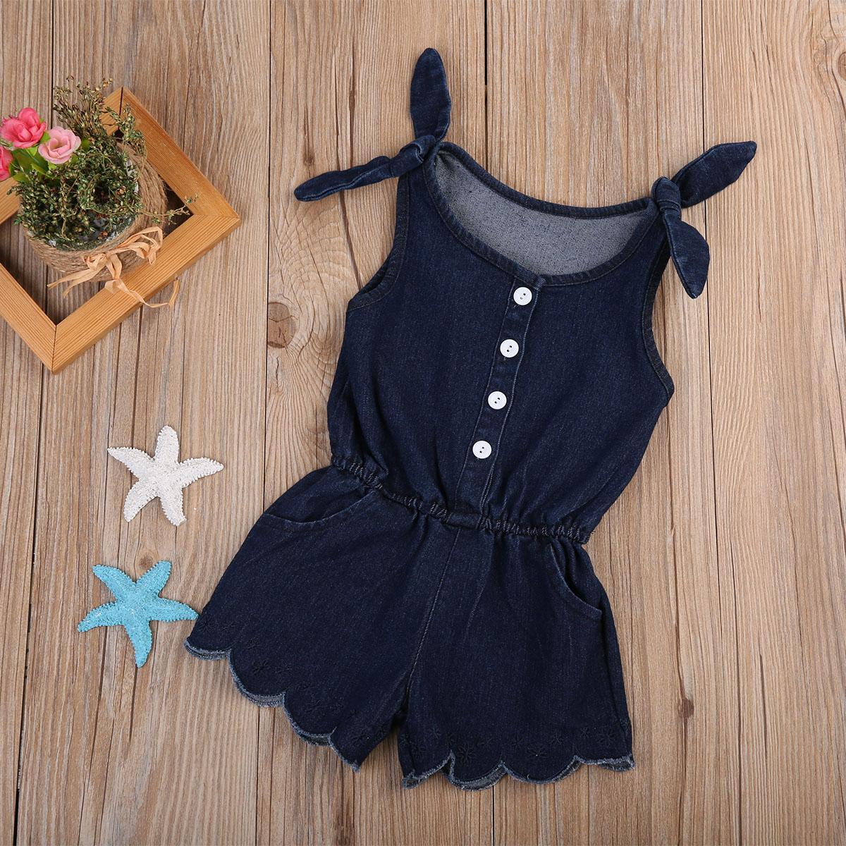2d0868fe6dd16 Pudcoco 2017 Newborn Infant Baby Girl Navy Blue Romper Jumpsuit Outfits  Summer Sunsuit Clothes 0-24M