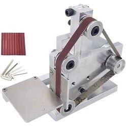 Ue wtyczka Diy Mini szlifierka taśmowa szlifierka stołowa szlifierka polerska bufor elektryczna szlifierka kątowa 175x110x140Mm