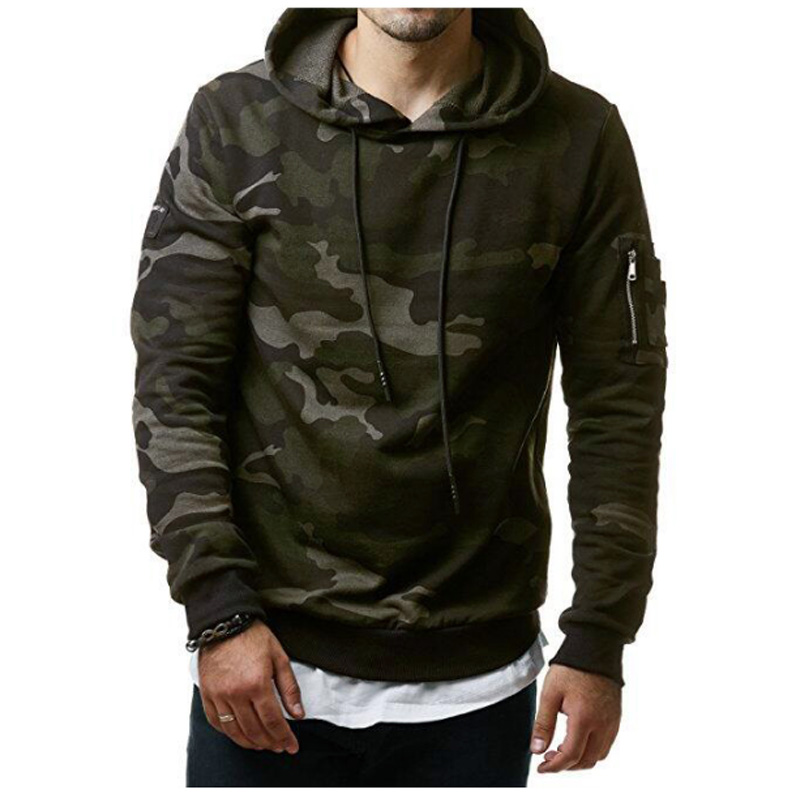 2018 New Autumn Hoodies Men Fashion Brand Pullover Camouflage Hooded Sportswear Sweatshirt Men'S Tracksuits Moleton XXXL