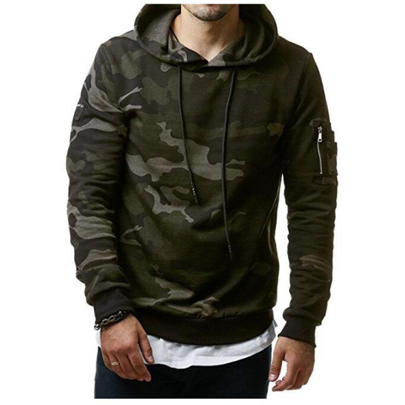 2018 New Autumn Hoodies Men Fashion Brand Pullover Camouflage Hooded Sportswear Sweatshirt Men'S Tracksuits Moleton XXXL