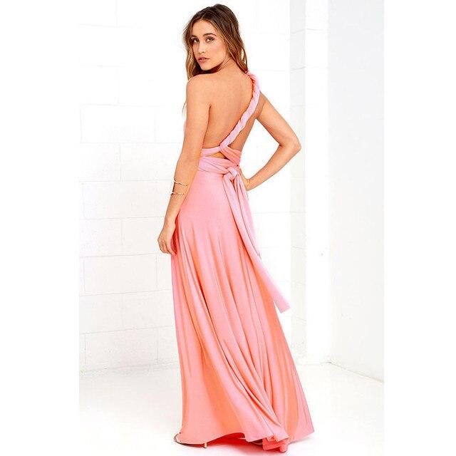 243dc26a940836 Maxi Dress Women Convertible Multi Way Wrap Bridesmaid Long Dress Vestidos  De Festa Vestido Longo