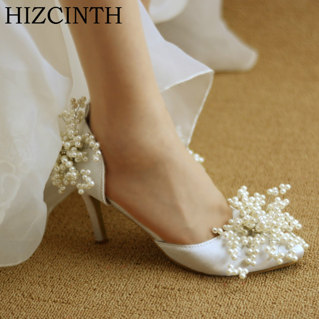 HIZCINTH New Brand Wedding Shoes, Sandals, Thin Heels High Heels Bride's Shoes  Woman Elegant