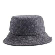 Hats Bucket-Hat Flat-Cap Hip-Hop Winter Mens Panama Women Wool AETRENDS Chapeau Z-6587