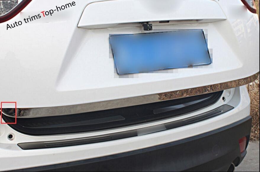 Pour Mazda CX-5 CX 5 2015 2016 COFFRE ARRIÈRE BOOT HAYON PORTE LID COVER TRIM MOULAGE GARNISH BARRE de INOXYDABLE