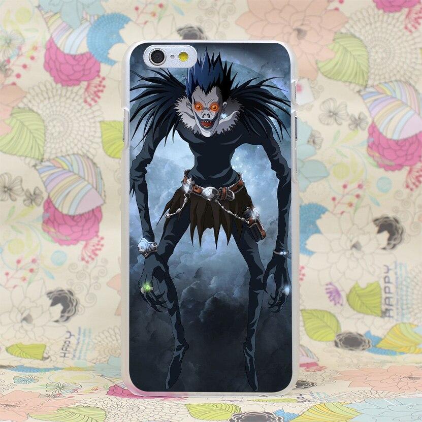 279HJ Death Note Ryuk Death God Hard Transparent Case Cover for iPhone 4 4s 5 5s SE 5C 6 6s Plus 7 7 Plus