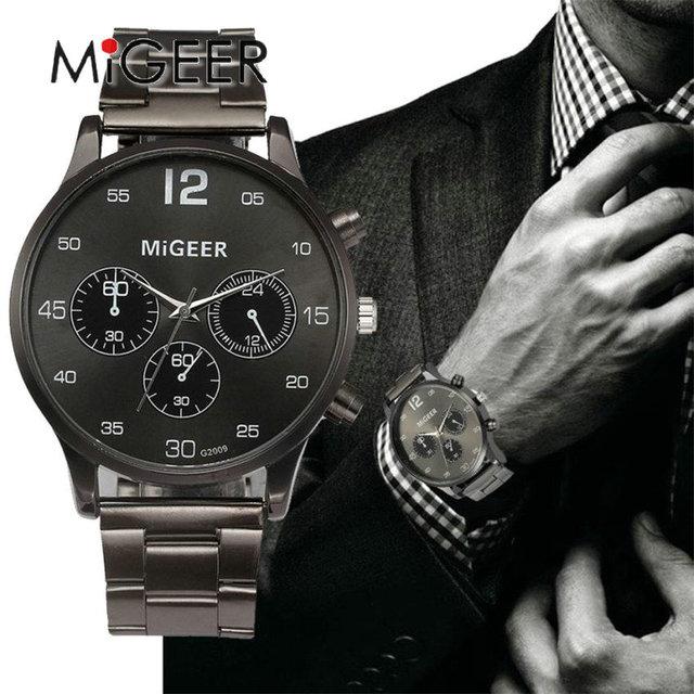 f064eb1be7c9 MIGEER nuevo reloj de los hombres de la marca de lujo de los hombres es de
