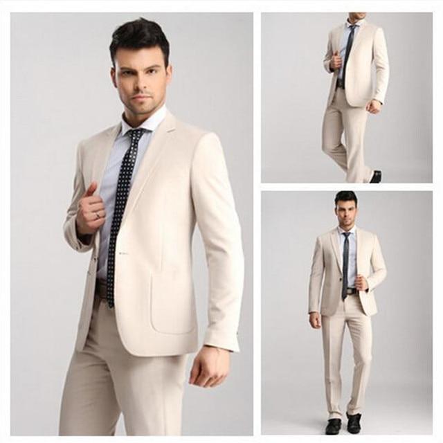 Vente chaude Kaki Terno Masculino Affaires Formelle Slim Fit Hommes costumes  Avec Pantalons Mode Smokings costumes 6b268824d6b