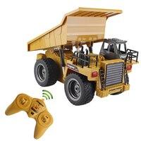 2.4G RC Escavação Mina de Despejo Caminhão 4 Roda de Liga de 6 Canal de Controle Remoto Realista Máquina Durável Multi-função presente para As Crianças