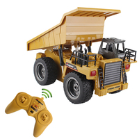 RC Truck 6 Channel 4 Wheel Remote Control Realistic Dump Truck Machine Durable Multi Function Gift