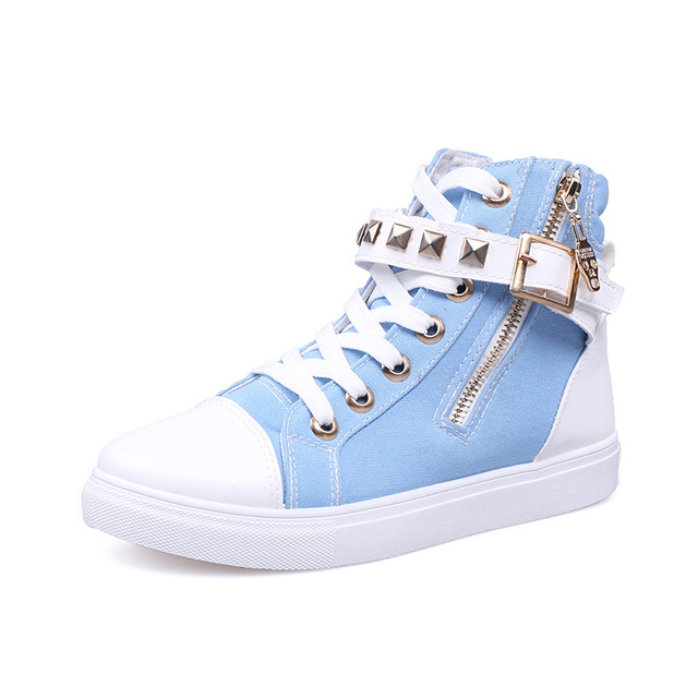 Autumn small fresh shoes pedal shoes platform rivet foot wrapping flat plus size women's shoes Low-heel Round head shoe adhesive