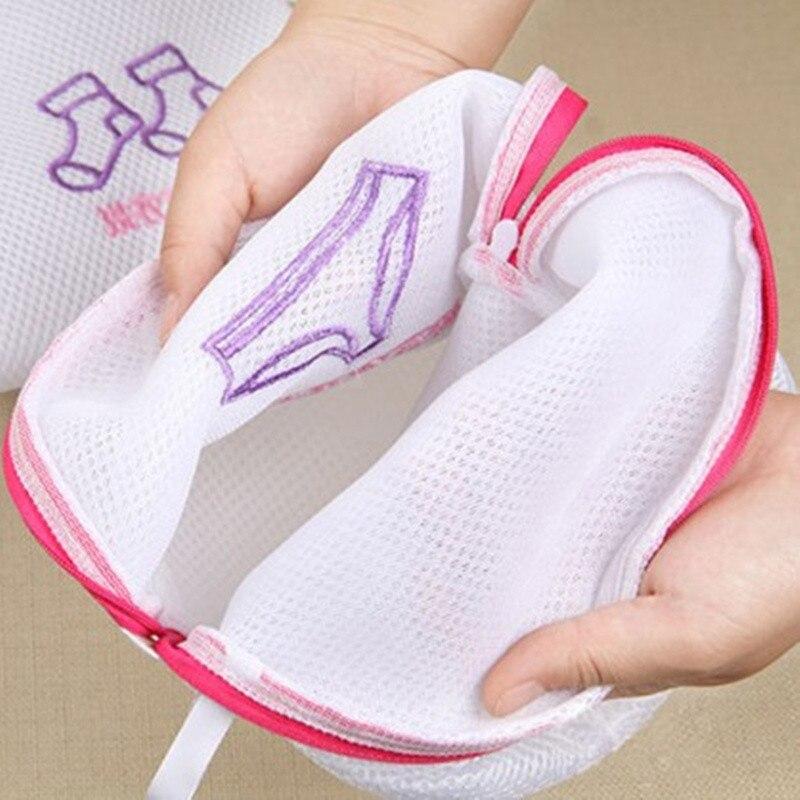 Underwear Net-Organizer Washing-Protection Foldable Storage-Bags Laundry-Bag Zipper Travel