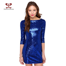 2016 Summer Style Women Dress Slim Mini Sparkling Sequins Dresses Sexy Night Out Club Party Dresses Cestido Lentejuelas NC-691