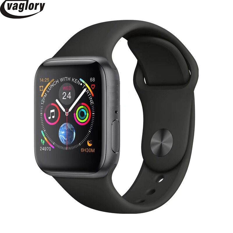 <font><b>IWO</b></font> Smart watch 44mm Series 4 case <font><b>1</b></font>:<font><b>1</b></font> Bluetooth Smartwatch Heart Rate Monitor Sport Wisrtwatch for Huawei Xiaomi Oppo iPhone image