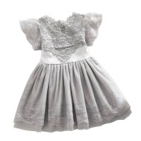 Summer Toddler Girls Baby Kids Lace Tulle Dress Floral Princess Tutu Dress 2 7Y